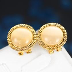 Vienna Jewelry 18K Gold Roman Inspired Stud Earrings Made with Swarovksi Elements - Thumbnail 0