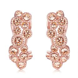 Vienna Jewelry Gold Plated Flower Clip Earrings - Thumbnail 0