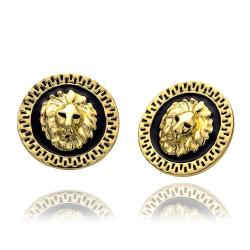 Vienna Jewelry 18K Gold Petite Stud Earrings Made with Swarovksi Elements - Thumbnail 0
