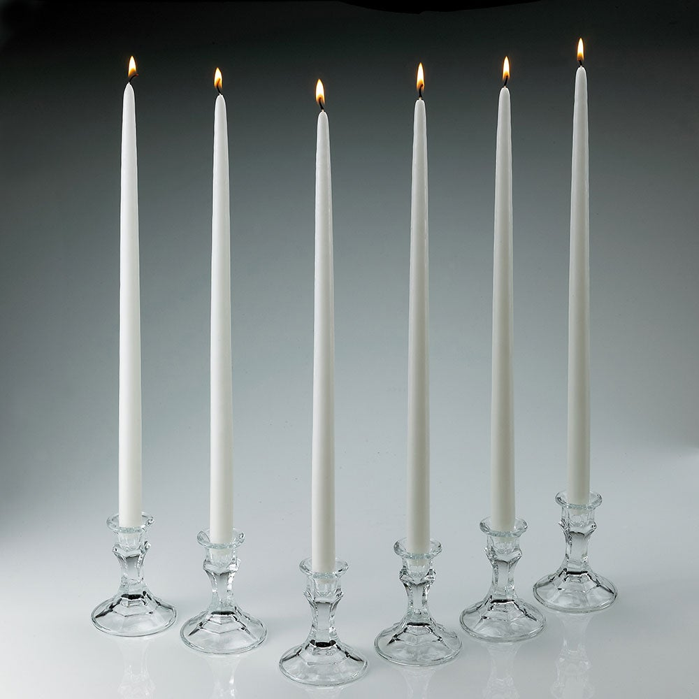 White Taper Candles (Set of 12)
