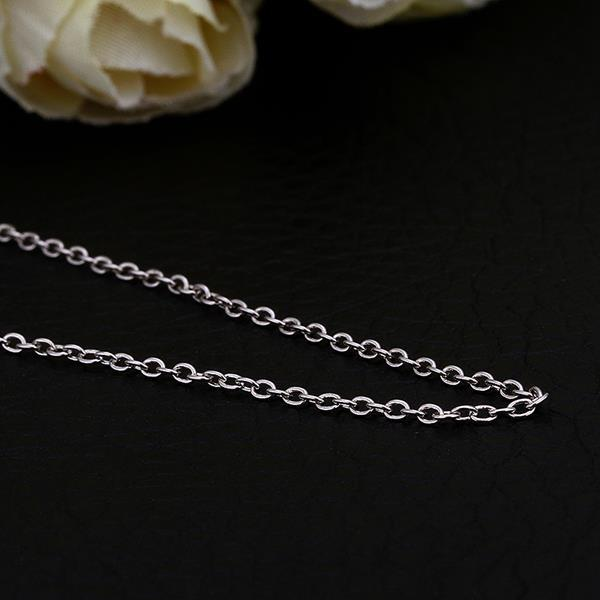 Vienna Jewelry White Gold Plated Petite Mini Chain Necklace