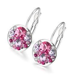 Vienna Jewelry 18K Italian Periwinkle Drop Earring - Thumbnail 0