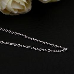 Vienna Jewelry White Gold Plated Petite Mini Chain Necklace - Thumbnail 0
