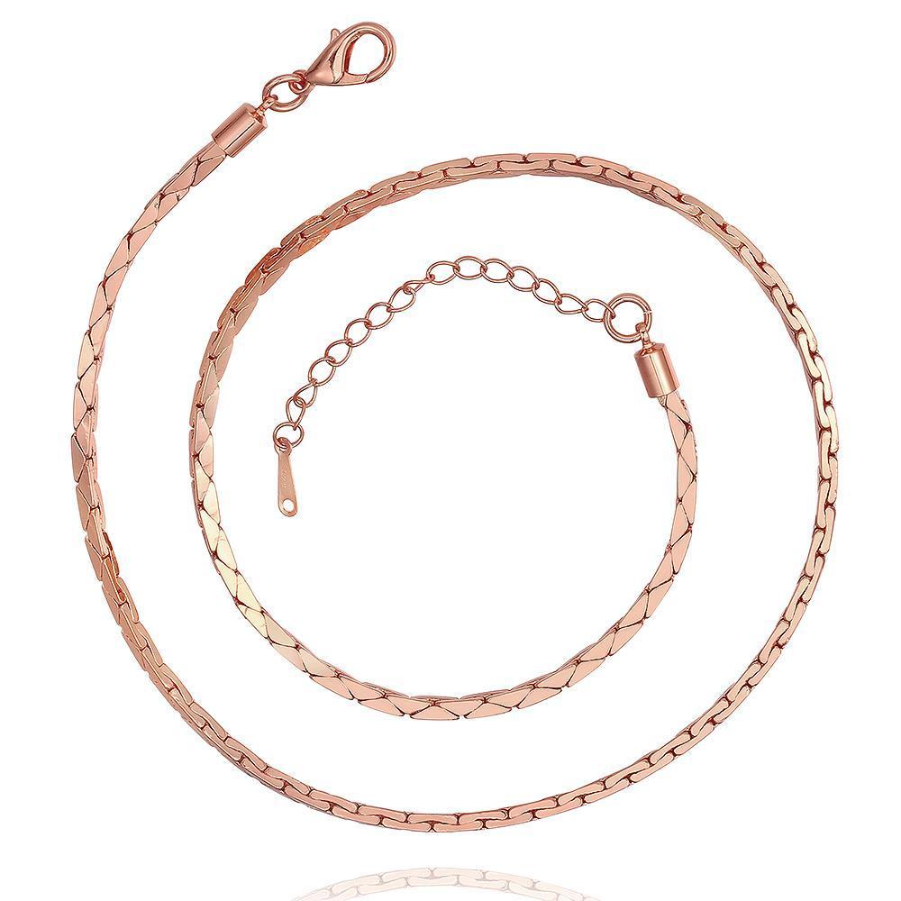 Vienna Jewelry Rose Gold Plated Interlocked Spiral Necklace