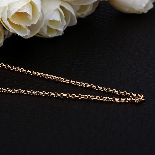Vienna Jewelry Gold Plated Classic Interlocked Chain Necklace