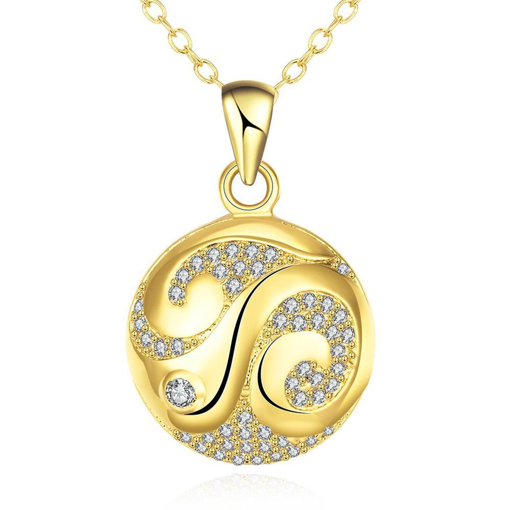 Vienna Jewelry Gold Plated Japanese Inspired Necklace