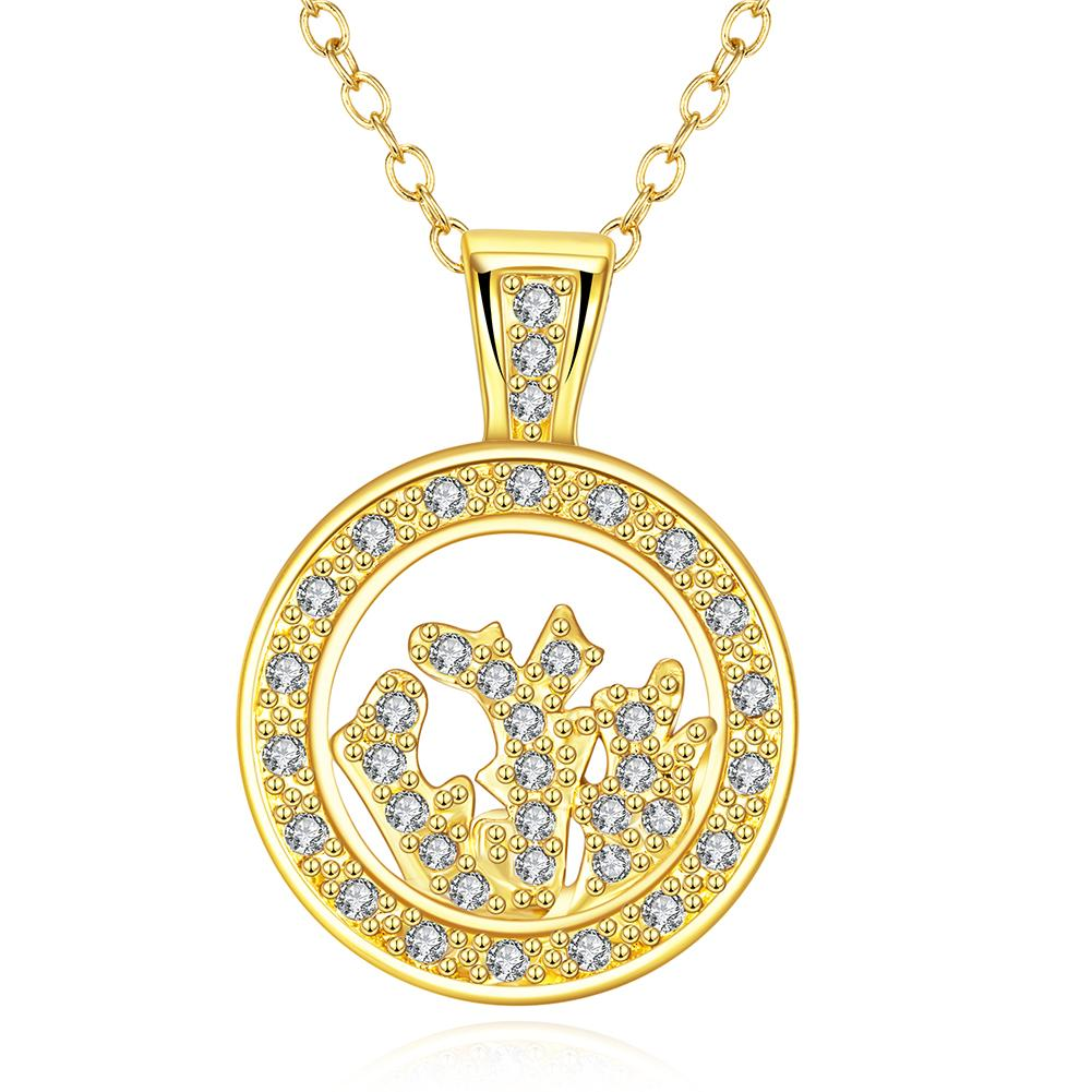 Vienna Jewelry Gold Plated Crystal Filled Necklace