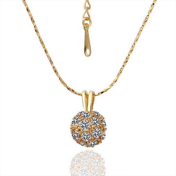 Vienna Jewelry Gold Plated Pav'e Crystal Classic Necklace