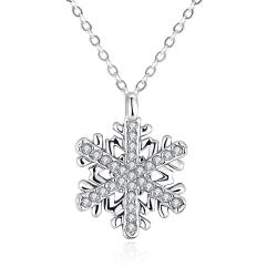 Vienna Jewelry Gold Plated Snowflake Fusion Necklace - Thumbnail 0