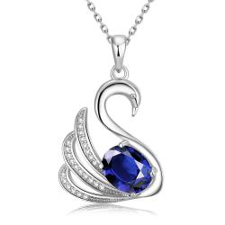 Vienna Jewelry White Gold Plated Elegant Dove Necklace - Thumbnail 0