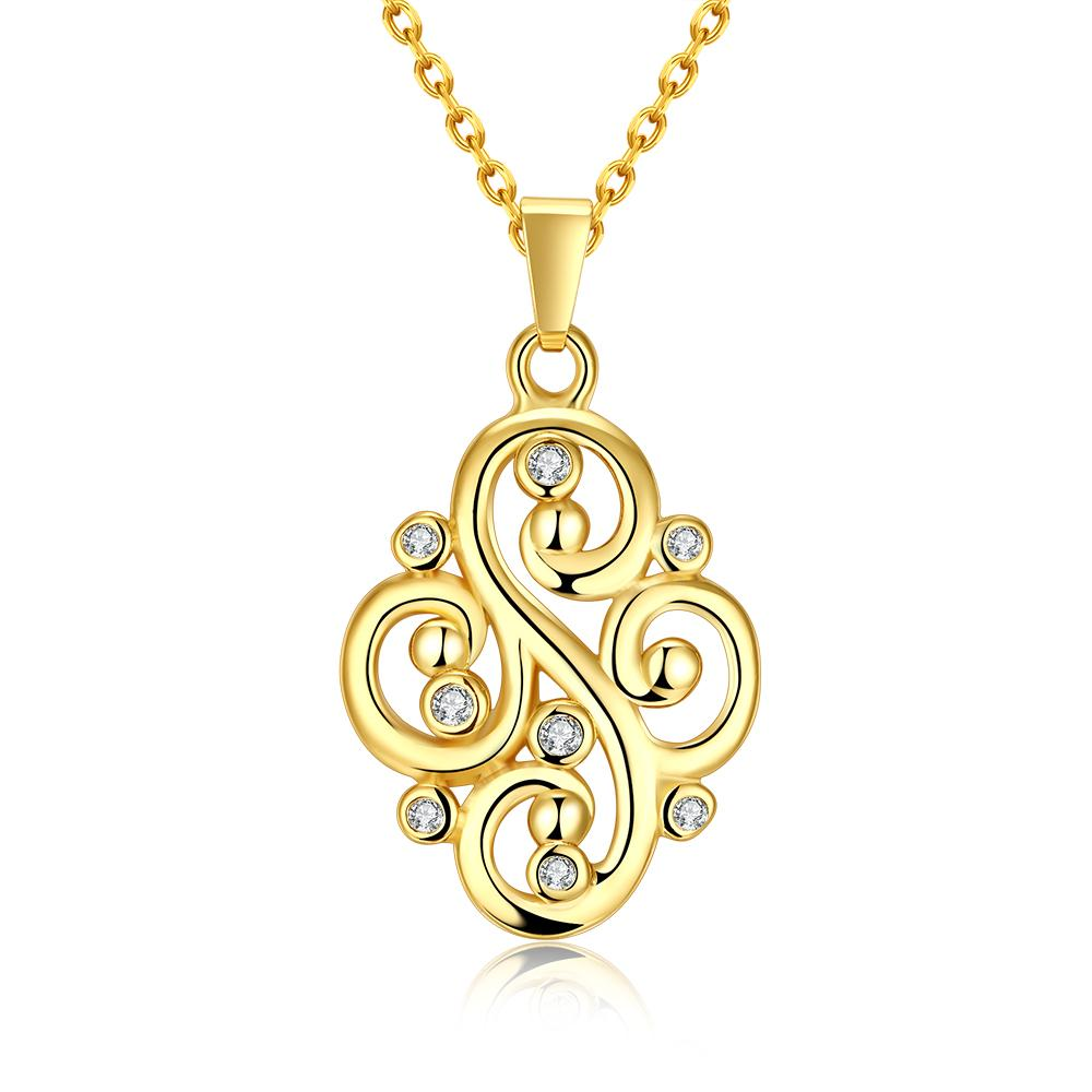 Vienna Jewelry Gold Plated Curved Iron Necklace