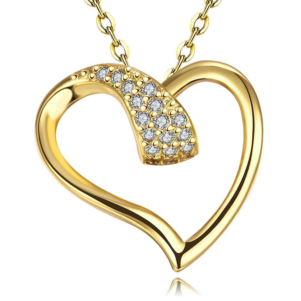 Vienna Jewelry Gold Plated Intertwined Love Necklace