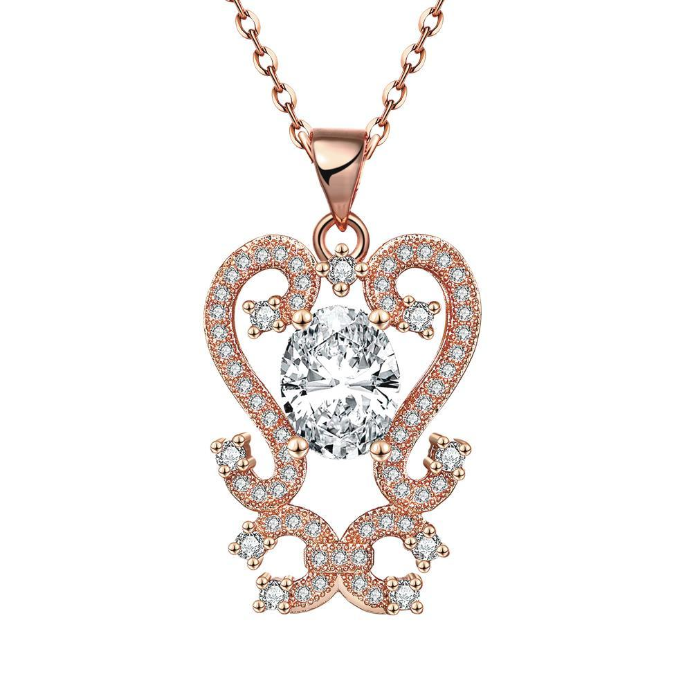 Vienna Jewelry Rose Gold Plated Artistic Medium Intertwined Necklace