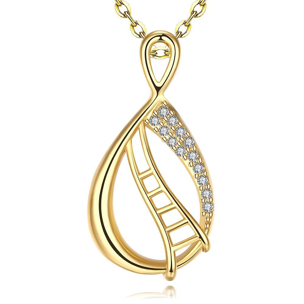 Vienna Jewelry Gold Plated Circular Stairsways Necklace