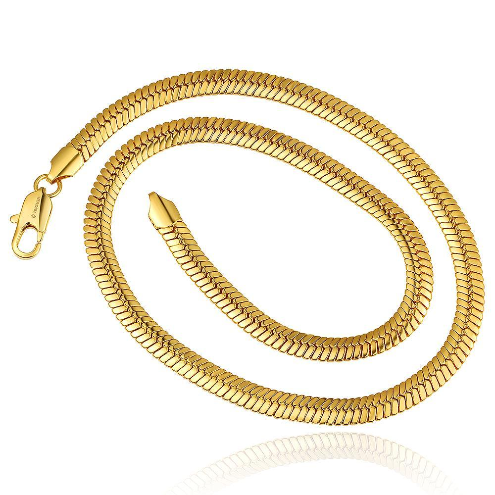 Vienna Jewelry Gold Plated Petite Snake Design Chain Necklace