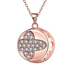 Vienna Jewelry Rose Gold Plated Thick Cut Sphere Necklace - Thumbnail 0