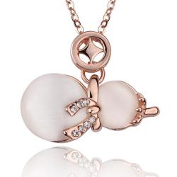 Vienna Jewelry Rose Gold Plated Duo-Ivory Pearl Necklace - Thumbnail 0