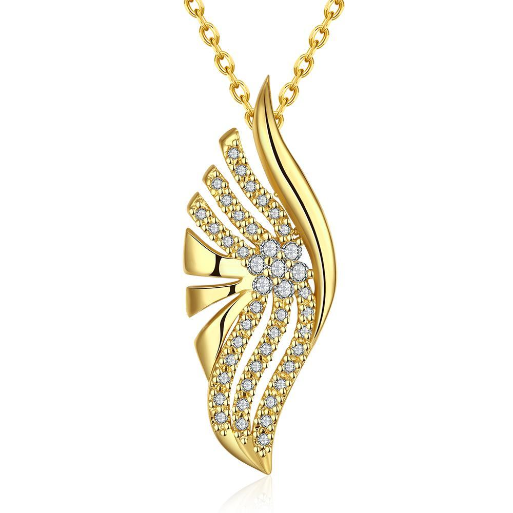 Vienna Jewelry Gold Plated Blossoming * Pendant NEcklace