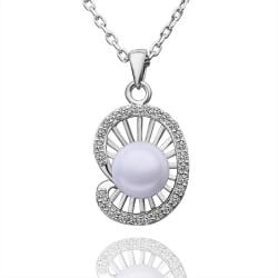 Vienna Jewelry White Gold Plated Seashell Pearl Necklace - Thumbnail 0