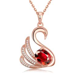 Vienna Jewelry Rose Gold Plated Elegant Dove Necklace - Thumbnail 0