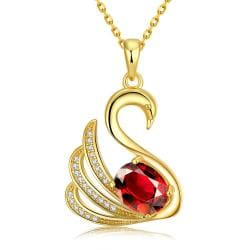 Vienna Jewelry Gold Plated Elegant Dove Necklace - Thumbnail 0