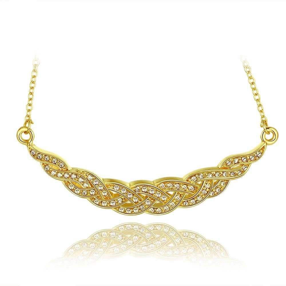 Vienna Jewelry Gold Plated Spiral Intertwined Necklace