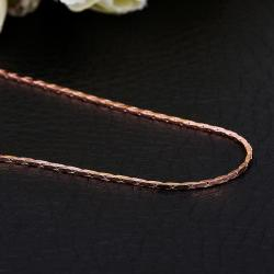 Vienna Jewelry Rose Gold Plated New York Inspired Chain Necklace - Thumbnail 0
