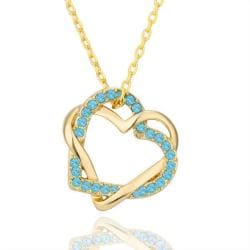 Vienna Jewelry Gold Plated with Saphire Gems Necklace