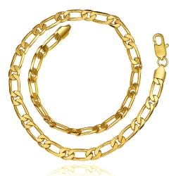Vienna Jewelry Gold Plated Petite Band Chain Necklace - Thumbnail 0