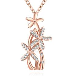 Vienna Jewelry Rose Gold Plated Grape Vine Necklace - Thumbnail 0