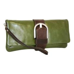 Women's Nino Bossi Buckle Up Clutch Khaki
