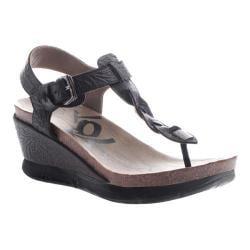 Women's OTBT Graceville Wedge Sandal Black Leather