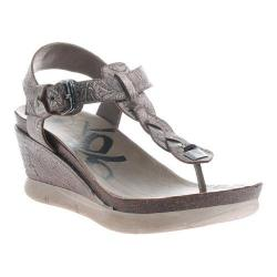 Women's OTBT Graceville Wedge Sandal Light Pewter Leather