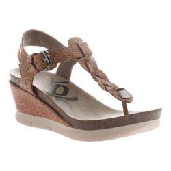 Women's OTBT Graceville Wedge Sandal Tawny Brown Leather