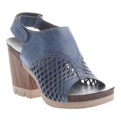 Women's OTBT Jet Set Sandal Blue Leather