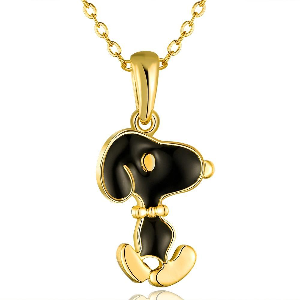 Vienna Jewelry Gold Plated Snoopy Dog Inspired Necklace