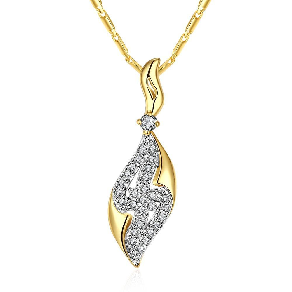 Vienna Jewelry Gold Plated Jewels Zig-Zag Necklace