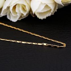 Vienna Jewelry Gold Plated Interlocked Chain Necklace - Thumbnail 0