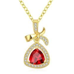 Vienna Jewelry Gold Plated Classic Triangular Necklace - Thumbnail 0