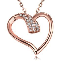 Vienna Jewelry Rose Gold Plated Intertwined Love Necklace - Thumbnail 0