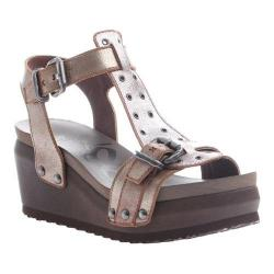 Women's OTBT Caravan T-Strap Sandal New Bronze Leather