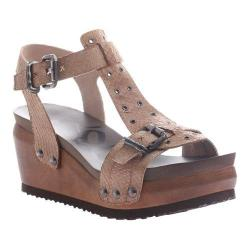 Women's OTBT Caravan T-Strap Sandal Stone Leather