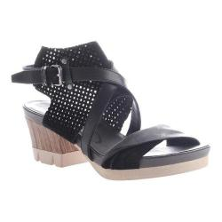 Women's OTBT Take Off Sandal Black Leather