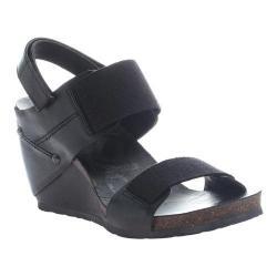 Women's OTBT Trailblazer Wedge Black Leather/Fabric