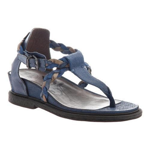 c3194afea Shop Women s OTBT Earthly Thong Sandal Blue Leather - Free Shipping Today -  Overstock.com - 11632606