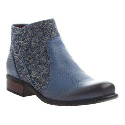 Women's OTBT Dare Devil Ankle Boot Blue Leather/Textile
