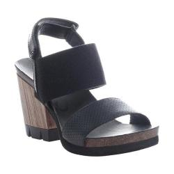 Women's OTBT Duty Free Sandal Black Leather/Textile