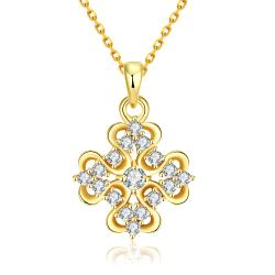 Vienna Jewelry Gold Plated Classic Snowflake Necklace - Thumbnail 0