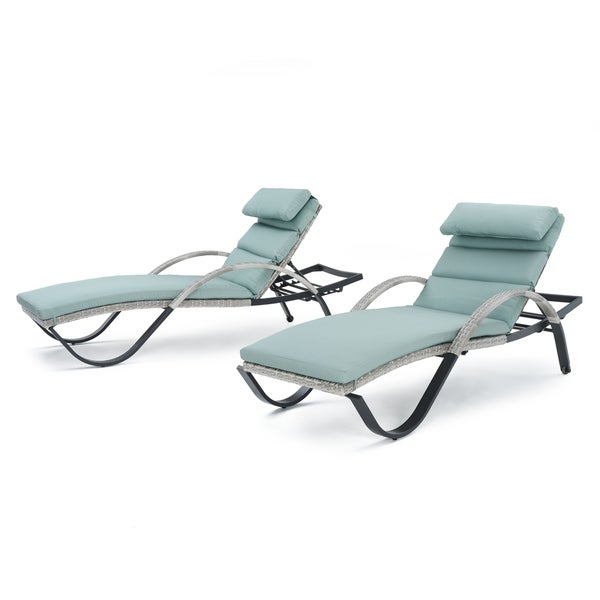 Shop Cannes Set Of 2 Chaise Lounges By Rst Brands Free