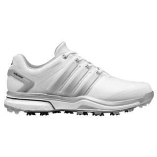 adidas Men's White/Silver Adipower Boost Golf Shoes